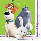'The Secret Life Of Pets 2' Green Luncheon Party Napkins, 6.5' x 6.5', 16 Ct.