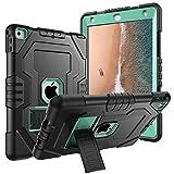 Digital Hutty iPad 201724,6cm Case, 3in 1Stoßfest Heavy Duty Ganzkörper Schutzhülle mit Standfuß für Apple New iPad 24,6cm 2017Release Schwarz 9.7 Black Green