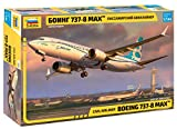 Zvezda 7026 - Civil Airliner Boeing 737 MAX - Plastic Model Kit - Scale 1:144 121 Parts Lenght 11' / 27,4