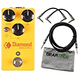 Diamond BCPJr Bass Comp Jr Optical Compressor Pedal Bundle w/Polish Cloth and 3