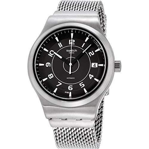 Swatch YIS418MA Irony Sistem, reloj de acero inoxidable con esfera gris Meche L