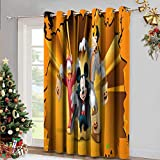 DRAGON VINES Cortinas opacas para sala de estar Bgment cortinas opacas para dormitorio Mickey Mouse Donald y goofy ahorro de energía de la habitación Set de 2 paneles de oscurecimiento W96 x L84