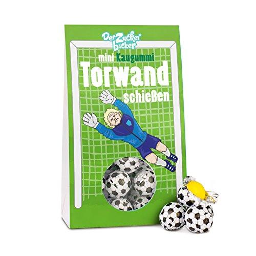 Mini-Kaugummi Torwandschießen, süße Naschportion mit Kaugummi-Fußbällen, 50 Gramm, coole Geschenkidee für Fußballbegeisterte, Männer, Jungs und Kids