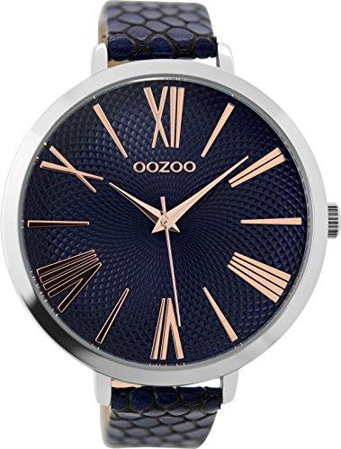 OOZOO Timepieces Damenuhr Leder/Sonstige analog Quarzwerk Lederband C9218