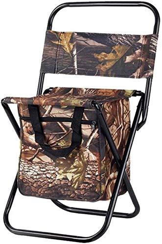 QTQZDD draagbare kruk rugzak met koeler, geïsoleerde picknicktas, visapparaat zitzak rugzak camping kruk opvouwbaar 2 2