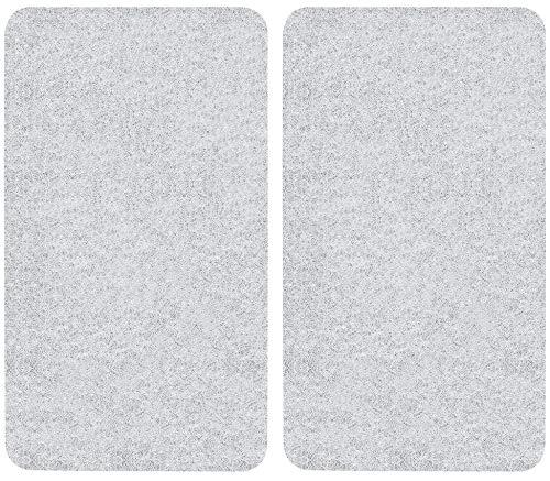 WENKO Coprifornelli in vetro Universal - set 2 pezzi, per tutti i tipi di piani di cottura, Vetro temperato, 30 x 1.8-5.5 x 52 cm, Trasparente