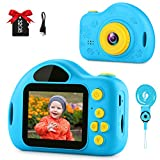 GKTZ Kids Camera Small Video Camcorder 12MP HD Digital Cameras with 2 inch Screen for Children,Ideal Gift Toys for 3-8 Year Old Boys Girls - Blue
