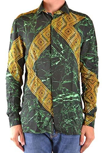 Versace Luxury Fashion Herren MCBI38852 Grün Viskose Hemd | Jahreszeit Outlet