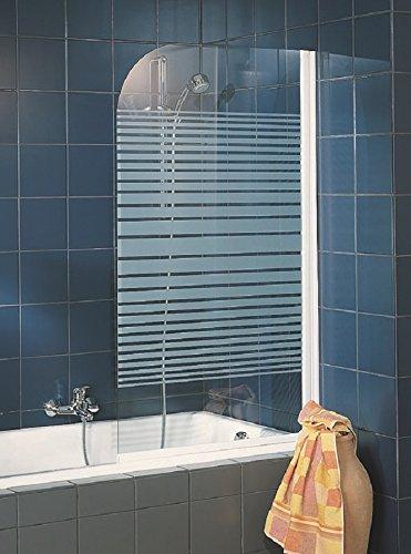 Schulte 4060991005459 4061554000423 Pare rabattable, mampara de ducha reversible, 1 persiana giratoria, vidrio – Perfil blanco, 80 x 140 cm, Décor rayas, 80 cm: Amazon.es: Bricolaje y herramientas