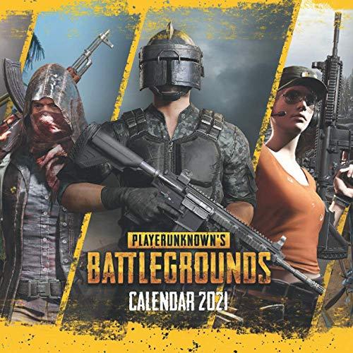 PlayerUnknown's Battlegrounds Calendar 2021: Pubg Calendar 2021-2022 / 16 Months & Posts Colorfull