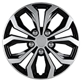Pilot Automotive WH553-15S-BS Universal Fit Spyder Wheel Cover [Set of 4]