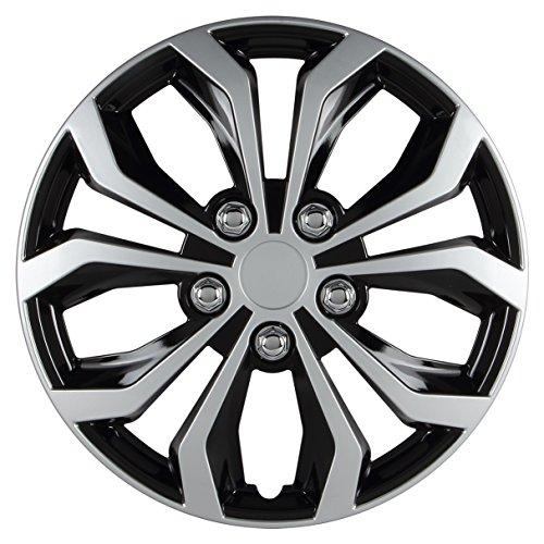 Pilot Automotive WH553-15S-BS Universal Fit Spyder Wheel Cover [Set of 4]