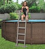 Bestway Escalera 3 peldaños de piscina plataforma-Tamaño: 122 cm
