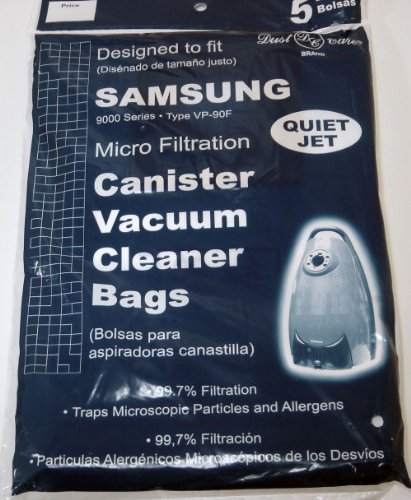 Samsung Quiet Jet Type VP-90T Vacuum Bags By DVC 5pk