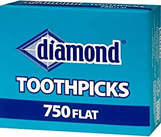 Diamond, Flat Toothpicks - 750 Count (pack of 3)
