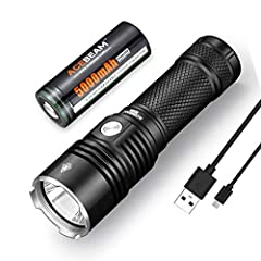 HIGH PERFORMANCE- Equipped with a CREE XHP35 LED, the ACEBEAM EC60 emits a bright 2000 lumens for distances up to 659 yards on Turbo mode. USB RECHARGEABLE FLASHLIGHT - Build-in Micro-USB Charging Port, and a battery level indicator. When it is time ...