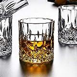 KAILIDE Verres À Whisky Verres À Whisky Vin Étranger Verre sans Plomb Verre Whisky Diamant Bière Vin Rouge,Verre