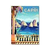 WHMQJQ HD-Druck Vintage Plakate und Drucke Rom Toskana