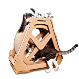 Large Cat Climbing Toy,Corrugated Paper -Waterwheel Turntable Wheel Weight Loss Cat Scratching Board