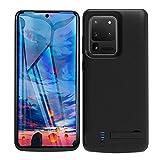HQXHB Coque Batterie pour Samsung Galaxy S20 Ultra 5G, 6000mAh Rechargeable Chargeur Batterie Externe Mince Power Bank Portable Étui Batterie Chargeur Cas Protection pour S10 Ultra 5G [6,9 Pouces]