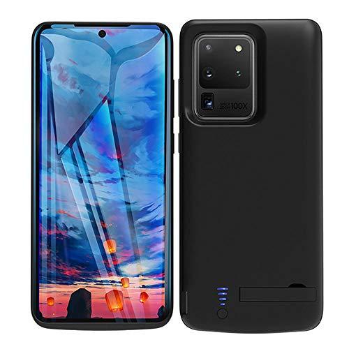 Huije Funda Batería para Samsung Galaxy S20 Ultra 5G, 6000mAh Funda Cargador Portatil Batería Externa Carcasa Batería Recargable Power Bank Case para Samsung Galaxy S20 Ultra [6,9 Pulgadas] - Negro