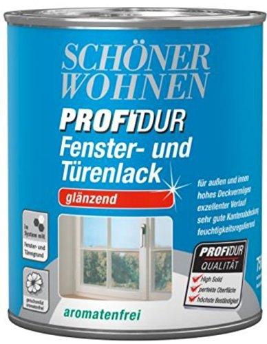 Schöner Wohnen PROFIDUR Fenster- und Türenlack Reinweiß glänzend 750 ml