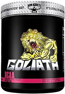 Goliath   Iron Addicts   BCAA Amino Acid Formula   Formulated By CT Fletcher (30 Servings, Fruit F*ckin Punch)