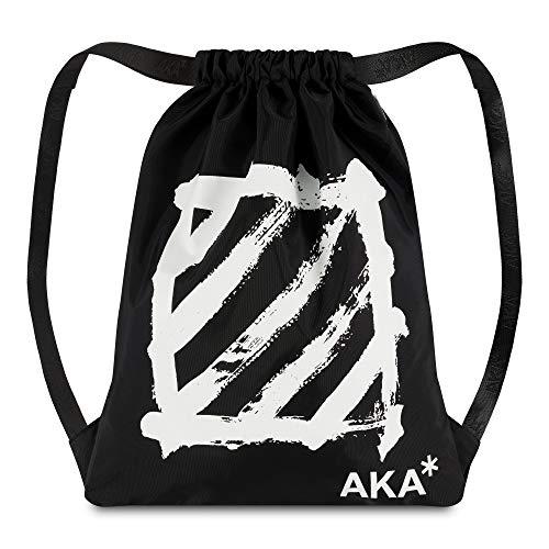 AKA* Brick Lane Cinch Bag - Drawstring Bag - Black Sports Bag