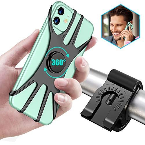 Cocoda Porta Cellulare Moto Staccabile, Porta Cellulare Bici Regolabile con Rotazione a 360°per Manubrio Moto/Bicicletta, Misura per iPhone 11 PRO Max /11 /XS/XS Max/XR, Samsung S20 /S10 Plus /S10e