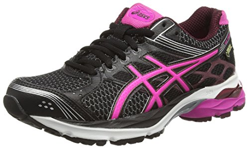 Asics Gel-pulse 7 G-tx, Damen Laufschuhe, Schwarz (black/pink Glow/royal Burgundy 9035), 37.5 EU