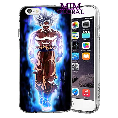 MIM Global Dragon Ball Z Super GT Protectores Case Cover Compatible para Todos iPhone (iPhone 7 Plus/8 Plus, UI)