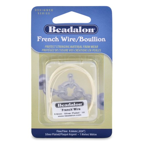 Beadalon French Wire 0.6mm Silver Plated, 1-Meter