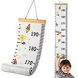 Hifot Gráficos de crecimiento para colgar en la pared, regla para niños y niñas, decoración de la habitación infantil, Tabla de crecimiento 20 x 200 cm