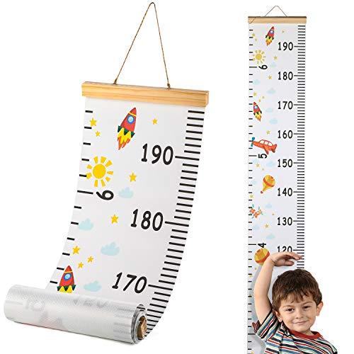 Hifot Messlatte Kinder, meßlatte kinder Wachstumsmesser Messleiste für mädchen Jungs Kinderzimmer Dekor 200cm *20cm