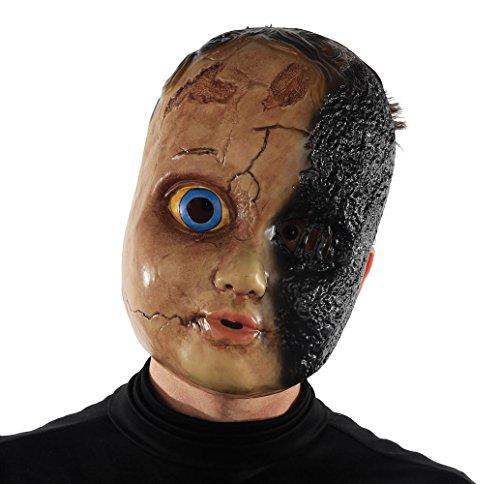 Maschera da Bambola con mezzo Viso Carbonizzato