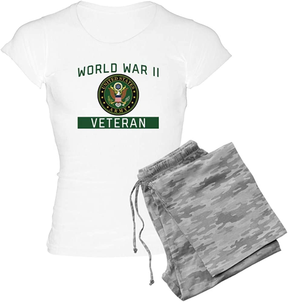 CafePress Max 60% OFF Limited Special Price Army World War PJs Women's Veteran II