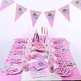 Prinzessin Sofia 130-teilig Partygeschirr für 10 Personen Kindergeburtstag Thema Tischdeko Party Set * Prinzessin Sofia - Happy Helpers * Motto-Party Deko Kit Geschirr-Set für 10 Personen Prinzessin