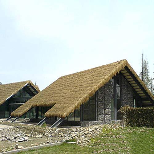 Tx Thatch Dach 50 x 50 cm / 8 Stück - Dachmatte aus PVC Kunstreh - Dachschindel Wind, Sonnenschutz, Antiseptisch, Brandschutz, Insektenbekämpfung 50 × 50 cm/8Pcs (1 m²)