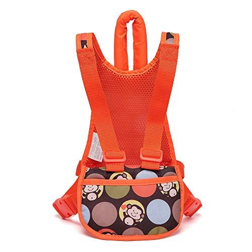 FPTB Childs Actifs Harnais, écharpe Porte-bébé Porteur Convient pour Les bébés Nouveau-nés et Enfants en Bas âge, bandoulière réglable (Orange)
