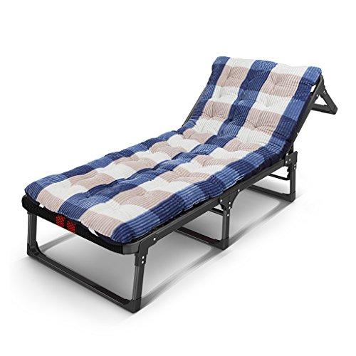 Qi Tai - Chaise Longue Pliante Siesta Fauteuils inclinables Ménage Noir Portable Pliant Multifonctions Chaise de Loisirs Salon Chambre Balcon (Couleur : A)