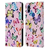 Head Case Designs sous Licence Officielle Ninola Papillons Multi Rose Modèles 4 Coque en Cuir à...