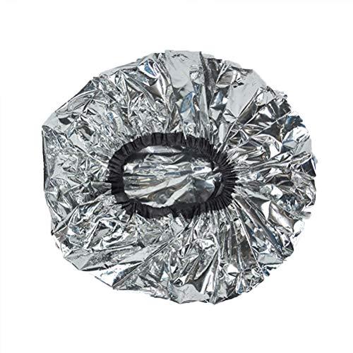 Beaupretty Cappuccio per capelli in alluminio per condizionamento profondo con cappuccio termico Cappuccio per capelli per salone termico Cappuccio per bagno secco idratante nutriente 6Pz