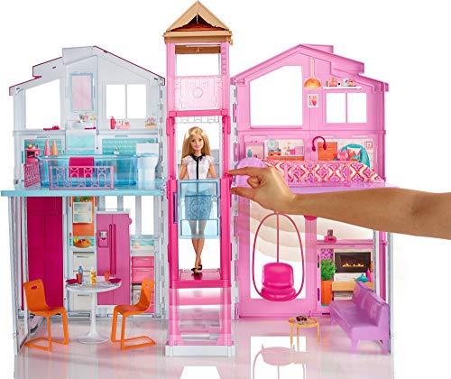 Maison de Luxe Barbie 3 Étages Rose - 3