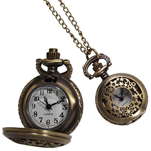 不思議の国のアリス 懐中時計 アンティーク風 うさぎ ウサギ レディース ネックレス ペンダント 子供 プレゼント PR-ALICLOCK