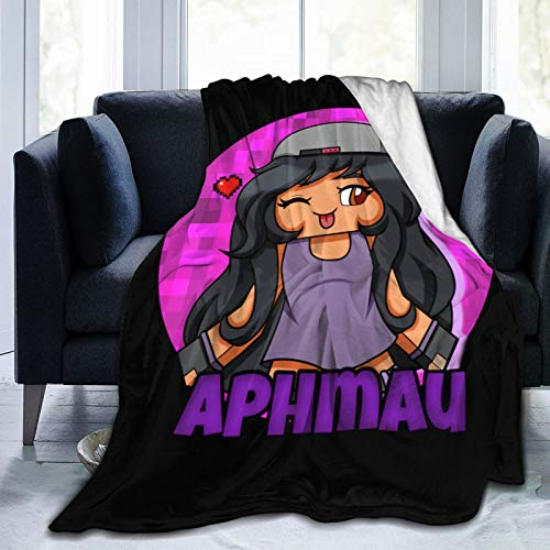 "351 APH-Mau Plush Blanket 60"""" X50 Soft and Warm Throw Digital Printed Ultra-Soft Micro Fleece Blanket for Couch Bed Living Room"