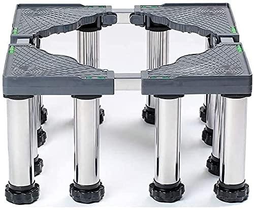 Ghongrm Base de la Lavadora Multifuncional Universal Squared Appliance Base de Rodillos 45-70 cm Frigorífico Ajustable Soporte del congelador Estante para el Soporte para el hogar Appliznce Barril de