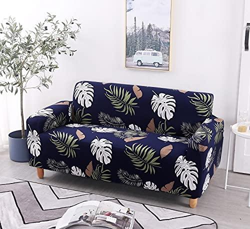Funda de sofá con Estampado nórdico, Funda de sofá firmemente Envuelta, Funda de sofá elástica elástica de Spandex, Adecuada para el sofá de la Esquina del Asiento A19 de 2 plazas