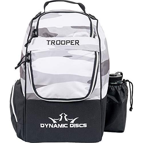 Dynamic Disc Trooper Disc Golf Rucksack   Arctic Camo   Frisbee Disc Golf Tasche mit bis zu 18 Disc Kapazität   Einführungs-Cape   leicht und langlebig   Discs nicht im Lieferumfang enthalten