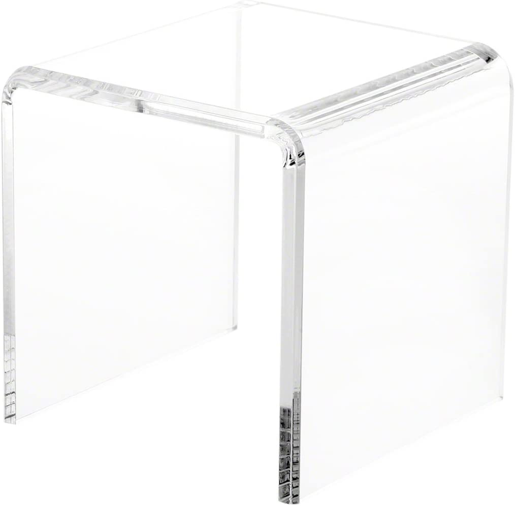 Ranking TOP9 Plymor Clear Portland Mall Acrylic Beveled Square Display W x Riser 6