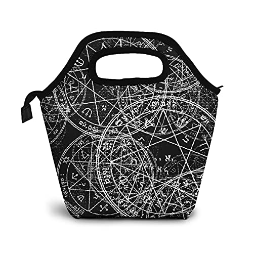 Bolsa Térmica Comida Bolsas De Almuerzo para Mujeres Hombres Niñas Niños Bolsa Isotérmica De Almuerzo Júpiter ondulado de geometría sagrada